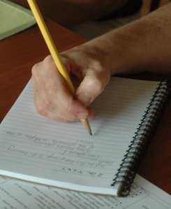 journaling hands